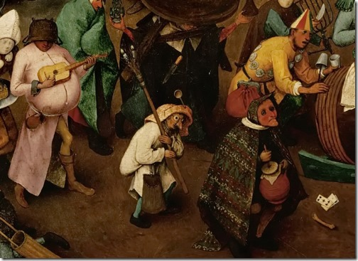 DETAIL: The Battle of Carnival and Lent (Kampf zwischen Fasching und Fasten), 1559, Pieter Bruegel the Elder