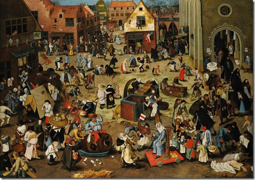 The Battle between Carnival and Lent, second half of 16th century, Pieter Brueghel the Younger