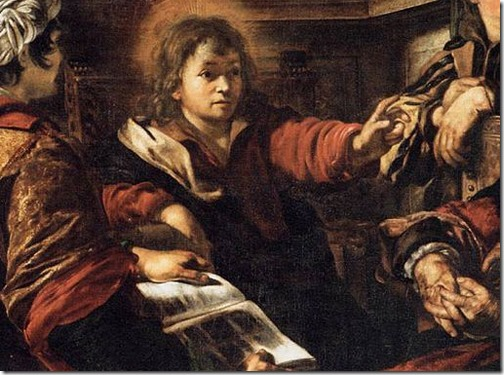 DETAIL: Christ among the Doctors (Le Christ parmi les docteurs), 1625, Giovanni Serodine