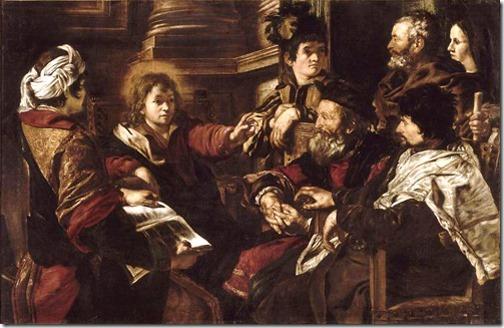 Christ among the Doctors (Le Christ parmi les docteurs), 1625, Giovanni Serodine