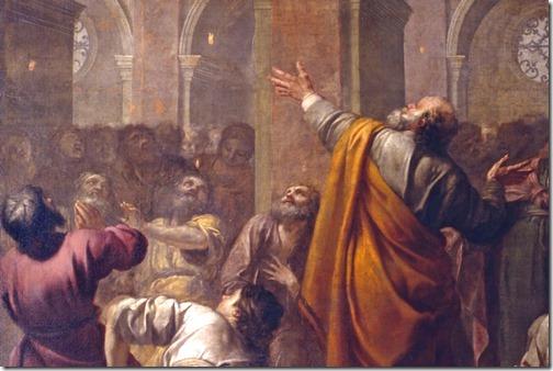 DETAIL: Descent of the Holy Spirit (La Descente du Saint-Esprit sur les Apôtres), 1634, Jacques Blanchard
