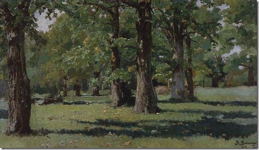 Oak Grove in Abramtsevo (Дубовая роща в Абрамцеве), 1883, Viktor Mikhailovich Vasnetsov