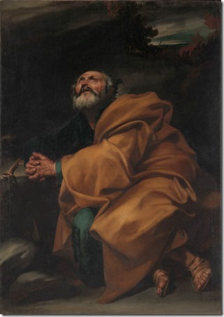 The Tears of Saint Peter, ca. 1612–13, Jusepe de Ribera
