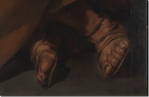 DETAIL: The Tears of Saint Peter, ca. 1612–13, Jusepe de Ribera