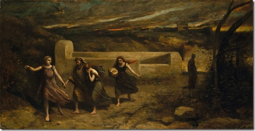 "Burning of Sodom (formerly ""The Destruction of Sodom""), 1843-1857, Jean-Baptiste-Camille Corot"