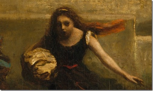 "DETAIL: Burning of Sodom (formerly ""The Destruction of Sodom""), 1843-1857, Jean-Baptiste-Camille Corot"