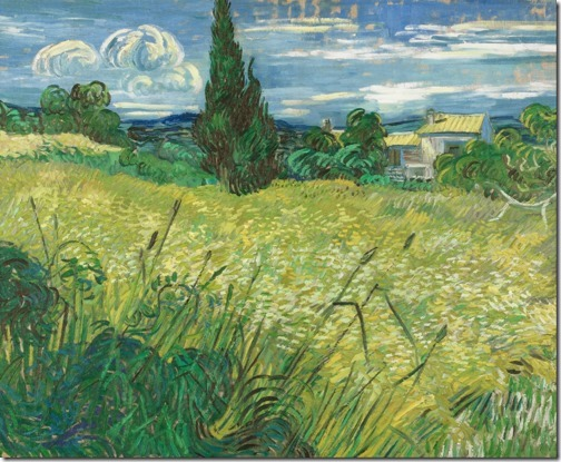 Green Wheat Field with Cypress, 1889, Vincent van Gogh
