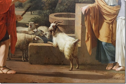 DETAIL: Jacob with the Daughters of Laban (Jacob venant trouver les filles de Laban), 1787, Louis Gauffier