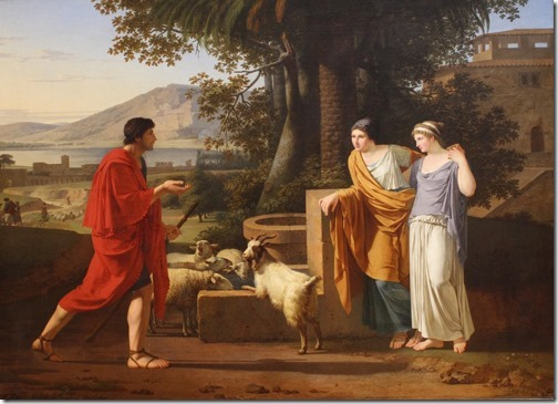 Jacob with the Daughters of Laban (Jacob venant trouver les filles de Laban), 1787, Louis Gauffier