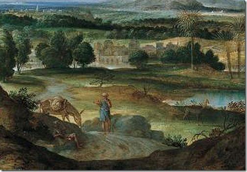 DETAIL: Abraham Leading Isaac to Sacrifice, 1602, Domenichino