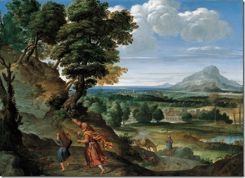 Abraham Leading Isaac to Sacrifice, 1602, Domenichino