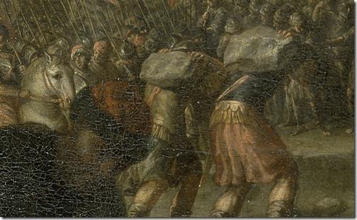 DETAIL: The Ark Crossing the Jordan (El paso del río Jordán con el arca de la alianza), ca. 1667-1668, Juan Montero de Rojas