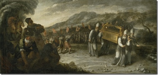 The Ark Crossing the Jordan (El paso del río Jordán con el arca de la alianza), ca. 1667-1668, Juan Montero de Rojas