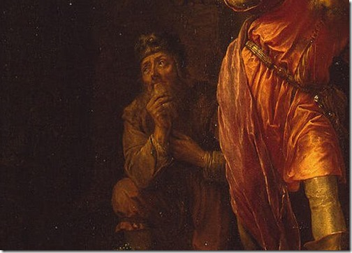 """DETAIL: Death of the Levite's Concubine (also known as """"Death of Levi's Wife""""), 1638, Willem Bartsius"""