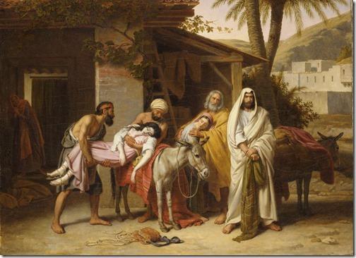 The Levite of Ephraim (Le Lévite d'Ephraïm méditant de venger sa femme morte victime de la brutalité des Benjamites), 1837, Alexandre-François Caminade