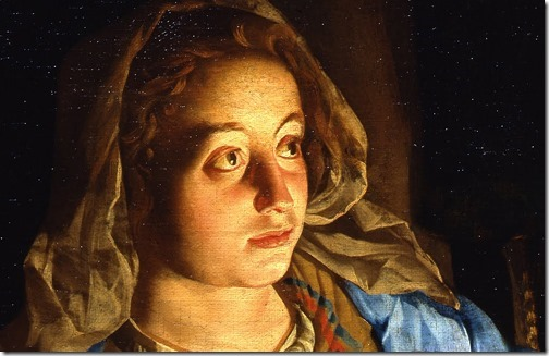 DETAIL: The Annunciation, early 17th century, Matthias Stomer