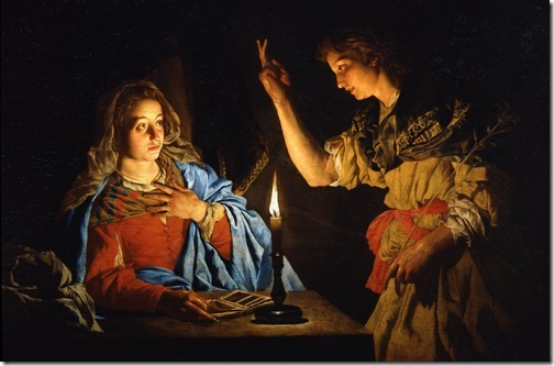 The Annunciation, early 17th century, Matthias Stomer