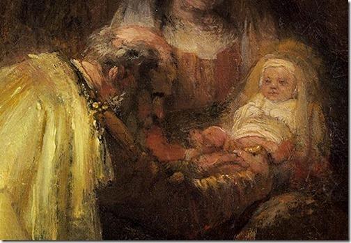 DETAIL: The Circumcision, 1641, Rembrandt van Rijn