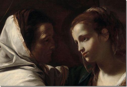 DETAIL: The Visitation, 1640S, Mattia Preti
