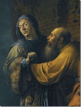 DETAIL: Abraham pleading with Sarah on behalf of Hagar (Abraham plaidé avec Sarah au nom d'Agar), 1631, Willem Bartsius