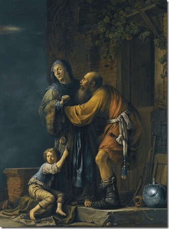 Abraham pleading with Sarah on behalf of Hagar (Abraham plaidé avec Sarah au nom d'Agar), 1631, Willem Bartsius