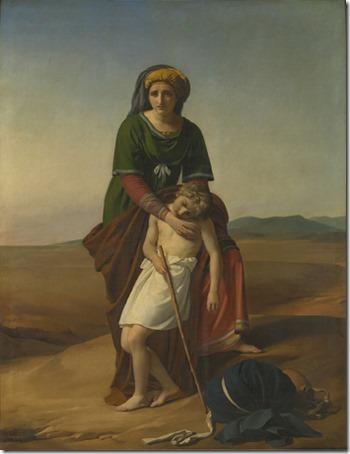 Agar and Ismael in the Desert (Agar et Ismaël dans le désert / Agar en Ismaël in de woestijn), 1820, François-Joseph Navez