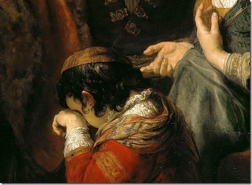 DETAIL: The Expulsion of Hagar (Hagar repudiating / Die Verstoßung von Hagar und Ismael), ca. 1640–42, Govert Flinck