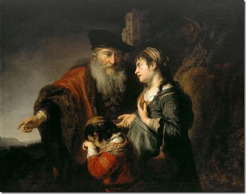 The Expulsion of Hagar (Hagar repudiating / Die Verstoßung von Hagar und Ismael), ca. 1640–42, Govert Flinck