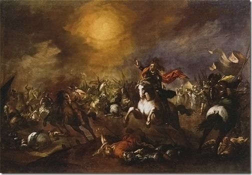 Joshua Commanding the Sun to Stand Still (Josué parando el sol / Josué deteniendo el curso del Sol), ca. 1650-60, Esteban March