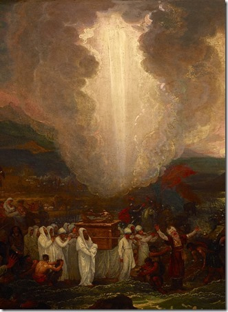 DETAIL: Joshua passing the River Jordan with the Ark of the Covenant, 1800, Benjamin West