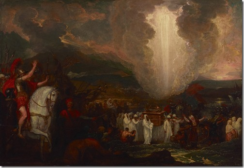 Joshua passing the River Jordan with the Ark of the Covenant, 1800, Benjamin West