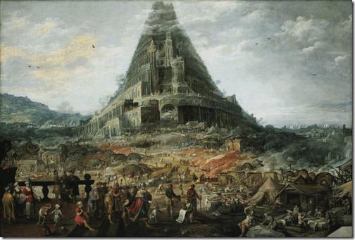 Tower of Babel (La tour de Babel), Joos de Momper II; Frans Francken II