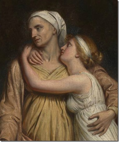DETAIL: Naomi and her Daughters, exhibited 1804, George Dawe