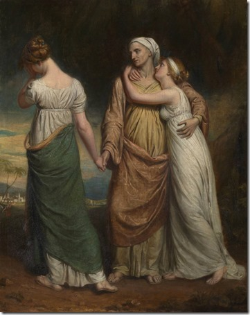 Naomi and her Daughters, exhibited 1804, George Dawe