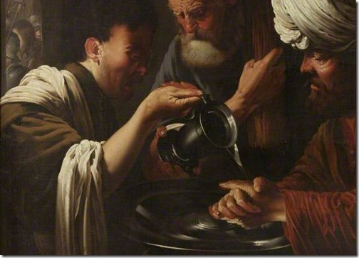 DETAIL: Pilate Washing his Hands, 1615-1628 Hendrick Terbrugghen