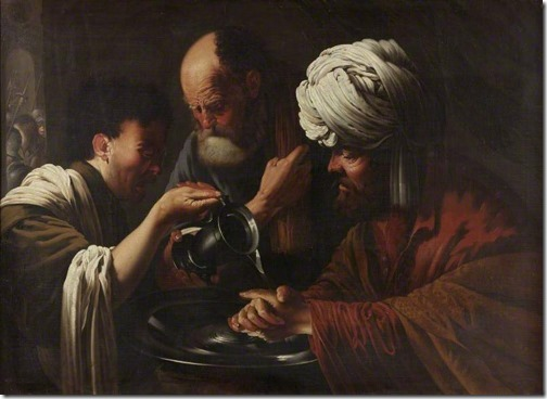 Pilate Washing his Hands, 1615-1628 Hendrick Terbrugghen