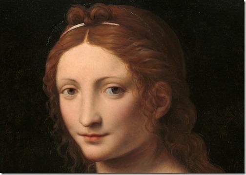 DETAIL: The Magdalen (Maria Maddalena), ca. 1525, Bernardino Luini
