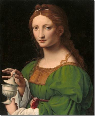 The Magdalen (Maria Maddalena), ca. 1525, Bernardino Luini
