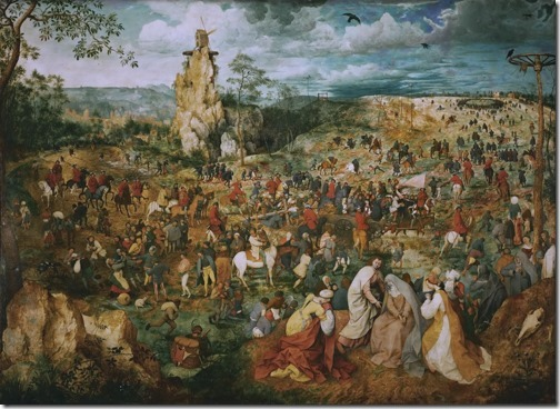 The Procession to Calvary (Die Kreuztragung Christ / Die Prozession zum Kalvarienberg), 1564, Pieter Bruegel the Elder