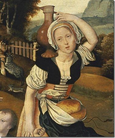 DETAIL: The Banishment of Hagar (La expulsión de Agar), ca. 1520-25, Jan Mostaert