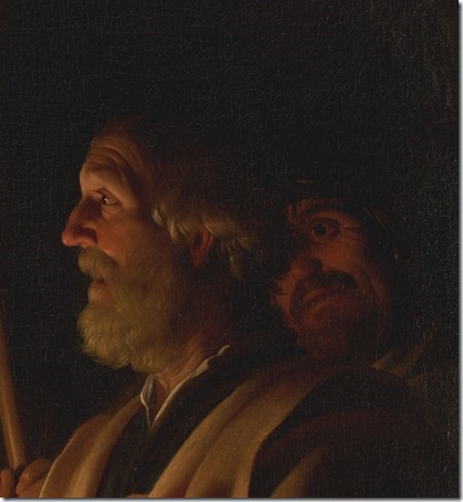 "DETAIL: ""The Denial of St. Peter"" (Le Reniement de saint Pierre), ca. 1623, Gerrit Van Honthorst"