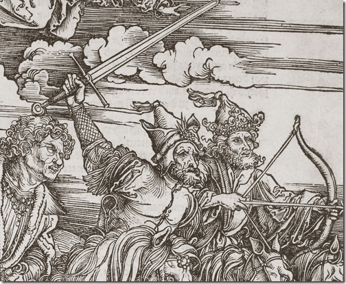 DETAIL: The Four Riders of the Apocalypse, 1498, Albrecht Dürer