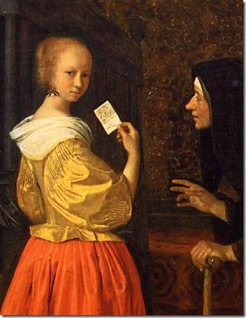 DETAIL: Bathsheba receiving David's Letter (Batseba ontvangt de brief van koning David), ca. 1656-1660, Jan Steen