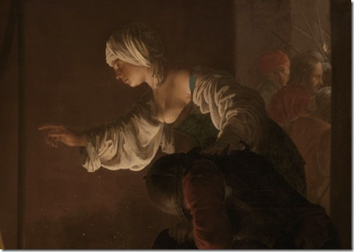 "DETAIL: ""The Denial of Saint Peter"", 1628, Hendrick Terbrugghen"