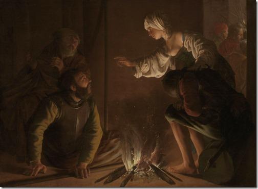 """The Denial of Saint Peter"", 1628, Hendrick Terbrugghen"