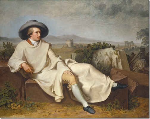 Goethe in the Roman Campagna (Goethe in der römischen Campagna), 1787, Johann Heinrich Wilhelm Tischbein