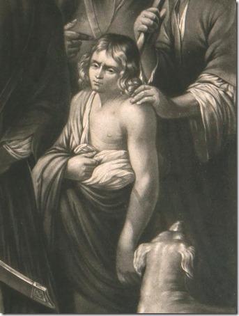 DETAIL: Joseph Sold by his Brethren to the Ishmaelites, ca. 1782, Robert Dunkarton