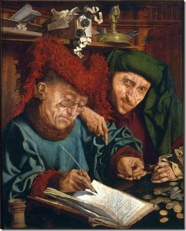 Two tax collectors, 1540s, Marinus van Reymerswaele