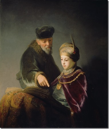 A Young Scholar and his Tutor, ca. 1629-1630, Rembrandt van Rijn