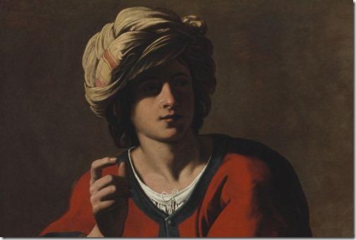 DETAIL: Jacob and Esau (Jakob und Esau / Jacob et Esaü / Ézsau eladja elsőszülöttségi jogát / Esau Selling His Birthright / Jacob échange le droit d'aînesse d'Esaü contre un plat de lentilles), ca. 1625, Italian follower of Caravaggio